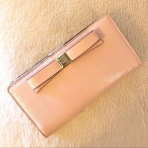 Kate Spade Pink Stacy Glossy Wallet